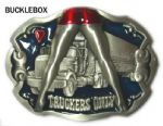 Truckers Only Truck Lorry Belt Buckle + display stand. Code AE7